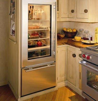 glass fridge