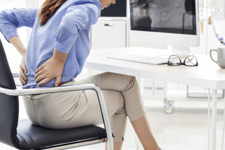 women pain in the back sickness insurance